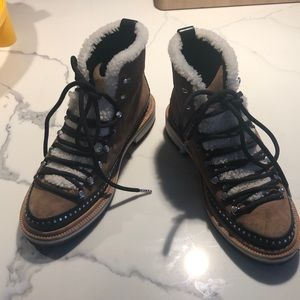 Rag and Bone Compass boots with shearling